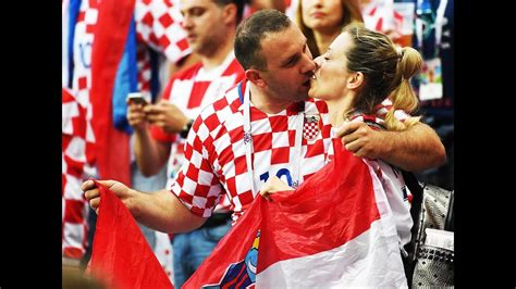 Croatia Fans Celebrate Win England Maiden World Cup