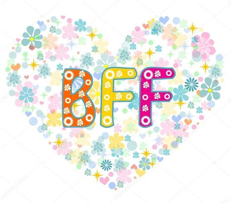bff  friends  greeting card stock vector