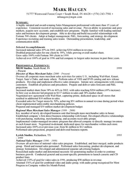 National Sales Manager Resume by Manager Free Resumes