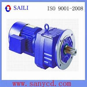 China Flange Mounted Inline Helical Gear Reducer