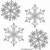 Coloring Snowflakes Pages Winter Snowflake Christmas Printable Bigactivities Print Activity Paper Stencil Template Stencils Snow Flakes Related sketch template