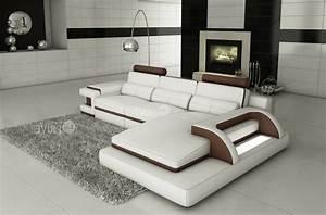 canape d39angle en cuir italien 6 places vinoti blanc et With canapé d angle design italien