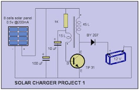 Simple Solar Charger Circuit Electronic Circuits Diagram