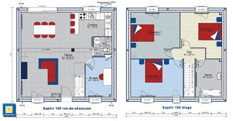 Plan Maison Etage 3 Chambres by Plan De Construction De Forme Carr 233 E Avec Un 233 Tage Et 3
