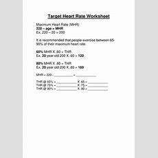Target Heart Rate Worksheet  Gcse Pe By Troyr  Teaching Resources