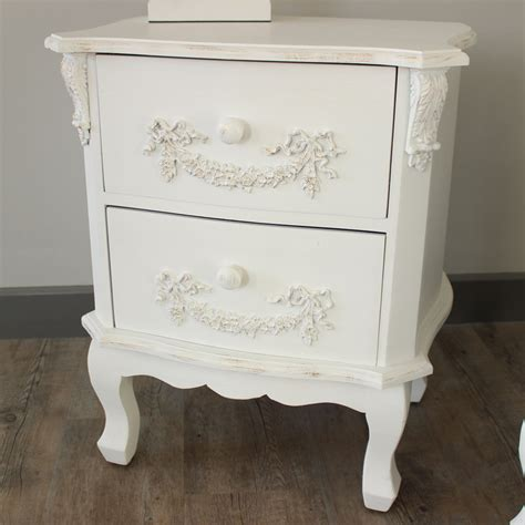 white vintage table l furniture bundle pair of antique white 2 drawer bedside