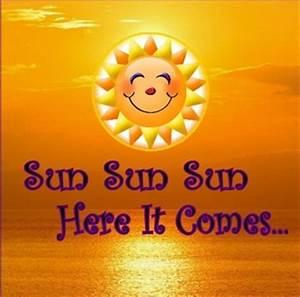 Sun Sun Sun Here It Comes eCard