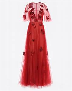 women39s embroidered tulle evening dress valentino With valentino robe
