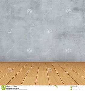 grunge interior concrete wall wood floor room for With montage parquet