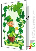 st patricks day card templates  kids