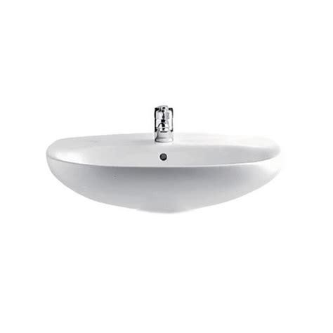 vasque lavabo ovale 56cm polo zoom pour salle de bains a