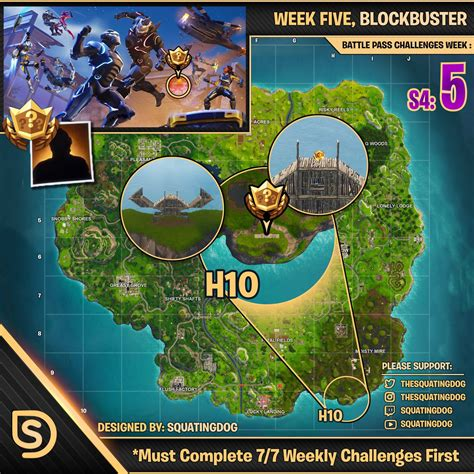 season  week  blockbuster challenge map wheel