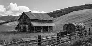 Old Farm House Black And White Photograph by Aaron Spong