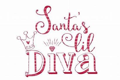Svg Diva Christmas Silhouette Decals Cameo Santa