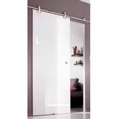 ensemble porte coulissante miami verre avec le rail With porte d entrée alu avec applique miroir salle de bain alinea