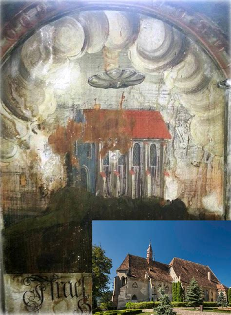 UFO Discovered in Transylvanian Medieval Wall Painting: Is ...
