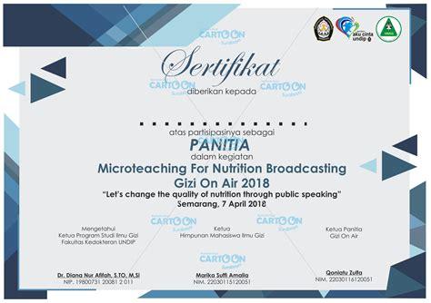 contoh hasil desain sertifikat event microteaching gizi