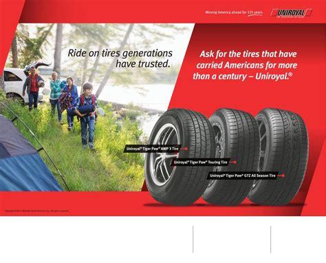 uniroyal tire dealers  advertise spring rebate promotion