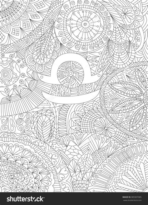 Zodiac Sign Libra Ethnic Floral Geometric Doodle Pattern | Zodiac signs colors, Zodiac symbols