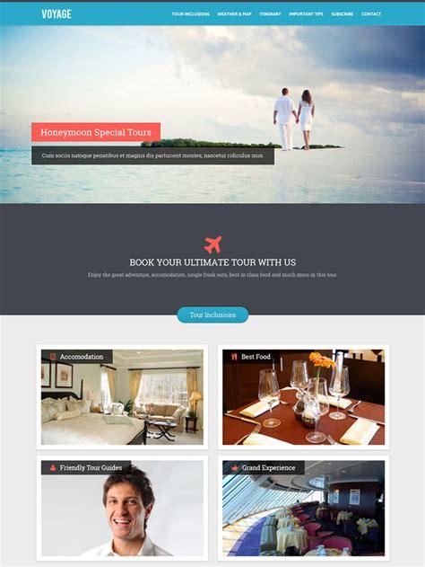 tourism landing page templates 15 premium html landing page templates
