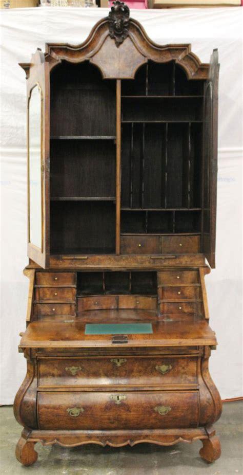 secretary to the cabinet 18th century dutch baroque burl walnut secretary cabinet
