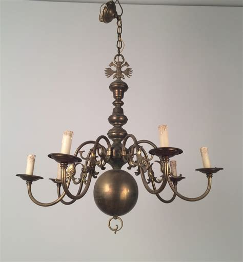 brass chandelier vintage bronze and brass chandelier 1940s for sale at pamono