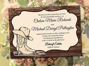 Printable wedding invitation template quotcountry western for Free printable country western wedding invitations