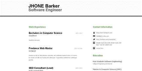 7 quality resume themes wp solver