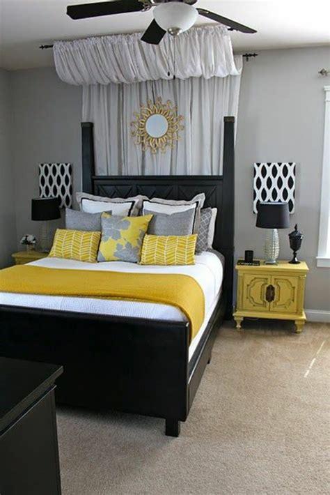 deco chambre noir déco chambre noir et jaune