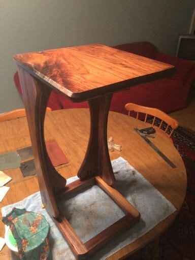 walnut sofa snack table     leg