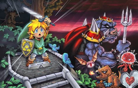 Throwback Art Features The Legend Of Zelda A Link To The