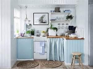 Rideau Bleu Pastel : dix id es pour mettre de la couleur dans sa cuisine ~ Teatrodelosmanantiales.com Idées de Décoration