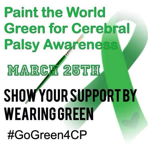 Wear Green For Cerebral Palsy Awareness  No Holding Back