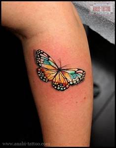 Tatouage Papillon Signification : tatouage papillon color sur le bras a bit of tattoo ~ Melissatoandfro.com Idées de Décoration