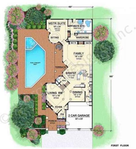 villa house plans villa zeno narrow floor plans style floor plans