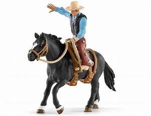 schleich, farm, world, western, pferd, mit, cowboy