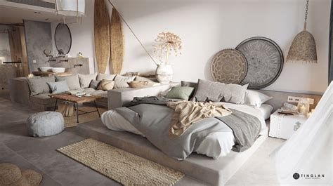 tribal chic apartment