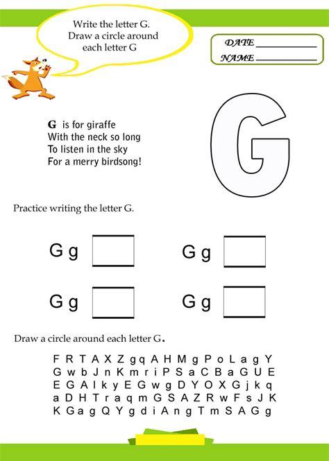 g worksheets for preschool alphabet letter g worksheet preschool crafts 713