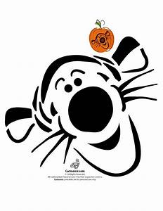 Classic disney pumpkin stencils disney39s tigger pumpkin for Winnie the pooh pumpkin carving templates