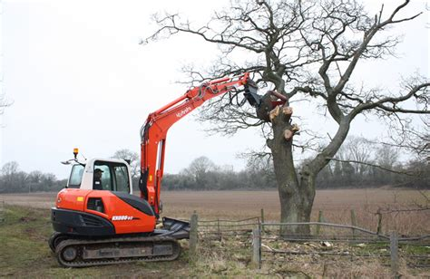 tree shearer attachment land water plant hire
