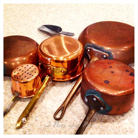 copper pots pans clean cleaning salt cooking polish 2beesinapod way away pan few diy safe wipe baking