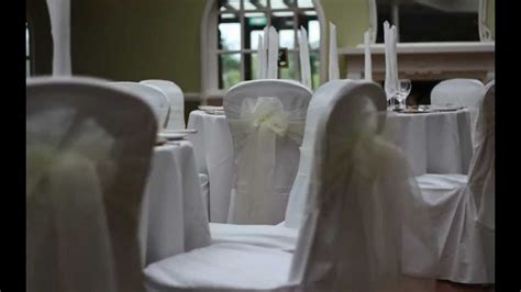 wedding chair covers darlington posh chair covers and bows set up for a wedding headlam