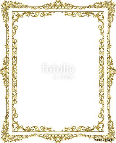 Cornici Floreali Da Stare Quot Vintage Frame Border Line Floral Design Gold Color