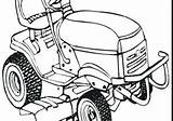 Mower Coloring Lawn sketch template
