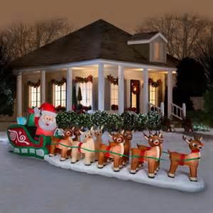 christmas airblown inflatable  santa rudolph