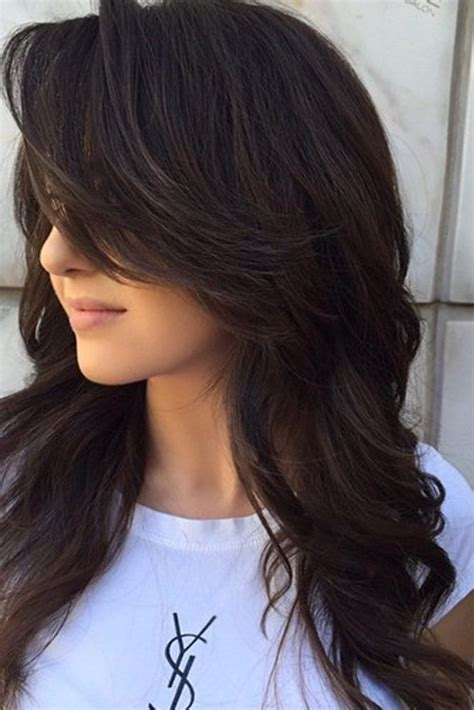 ideas  long layer haircuts  pinterest