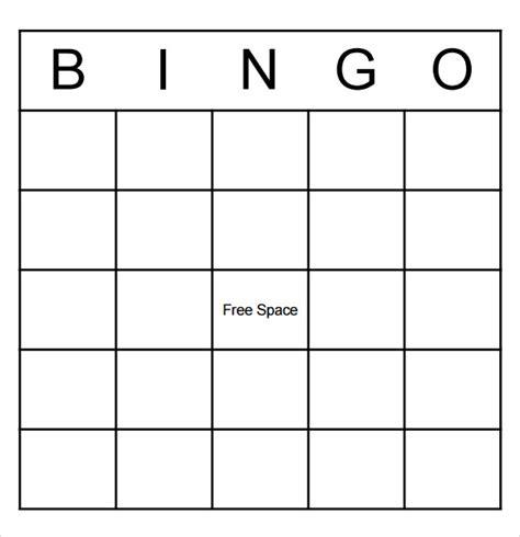 bingo template pdf 9 blank bingo sles pdf word sle templates