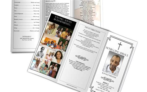 obituary template funeral program sample
