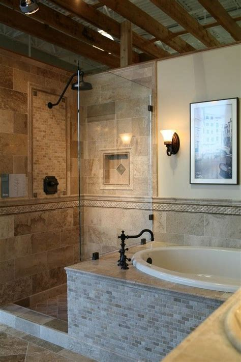 Master Bathroom Tile Designs by Tiled Tub And Shower Combo Collect Collect This Now For
