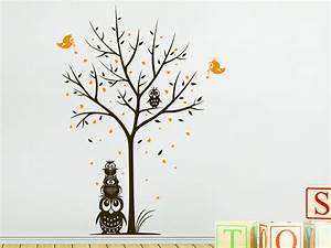 Baum An Wand Malen : wandtattoo baum mit eulen und herzen wandtattoo de ~ Frokenaadalensverden.com Haus und Dekorationen